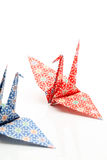 Origami birds. On a white background Royalty Free Stock Images