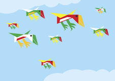 Origami birds Royalty Free Stock Photos