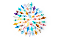 Origami birds Stock Photos