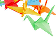 Origami birds Royalty Free Stock Image