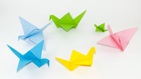 Origami birds Stock Images