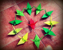 Origami birds Stock Photography