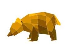 Origami björn Arkivbild
