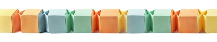 Origami blanka askar Arkivfoto