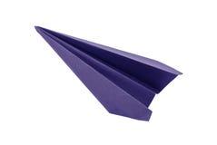 Origami blauwe document vliegtuigen Royalty-vrije Stock Fotografie