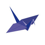 Origami. blue bird of paper Royalty Free Stock Photography