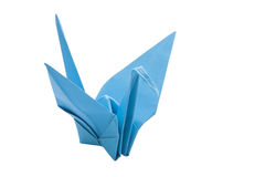 Origami blue bird paper Royalty Free Stock Image