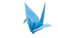 Origami blue bird paper Royalty Free Stock Photography