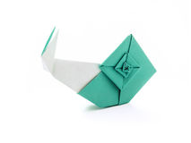 Origami blue snail royalty free stock image