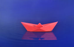 Origami boat Stock Photos