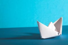 Origami boat Royalty Free Stock Photo