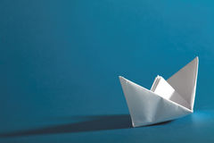 Origami boat Royalty Free Stock Image