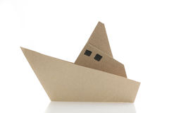 Origami boat Royalty Free Stock Photos