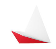 Origami boat. Isolated on white background Royalty Free Stock Image