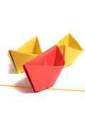 Origami boat over white Stock Photo