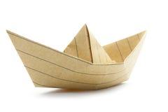 Origami boat Stock Image