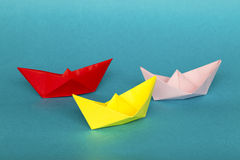 Origami boats Stock Photo