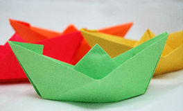 Origami Boats or Hats Royalty Free Stock Photo