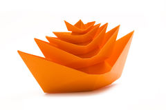 Origami boats heap Royalty Free Stock Photography