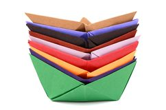 Origami boats Stock Photography