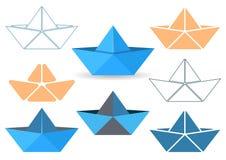 Origami boats stock illustration
