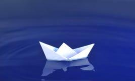 Origami Boot lizenzfreies stockbild
