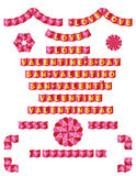 0rigami borders love. Decorative elements for valentine day Stock Illustration