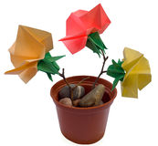 Origami bouquet Stock Photography