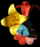Origami bouquet isolated on black Stock Photo