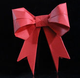 Origami bow Royalty Free Stock Images