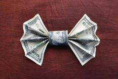Origami bow tie Stock Photos