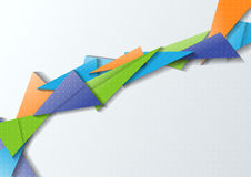 Origami bridge - modern abstraction Royalty Free Stock Images