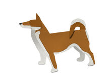 Origami of brown Shiba form recycled paper Royalty Free Stock Image