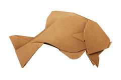 Origami brown vintage fish Royalty Free Stock Photography