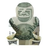 Origami BUDDHAReal d'argent un dollar Bill Isolated sur le fond blanc photographie stock