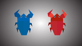 Origami bugs Royalty Free Stock Images