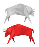 Origami_bull Stock Images