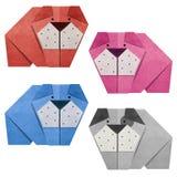 Origami bulldog Recycled Papercraft Stock Photos