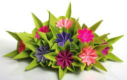 Origami bunch Stock Images
