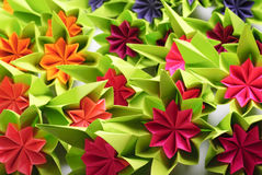 Origami bunch Stock Image