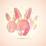 Origami Bunny for Happy Easter celebration. Royalty Free Stock Photos