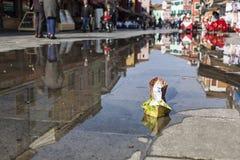 Origami Burano der kleinen Boote Stockfotos