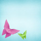 Origami butterfly made from Recycle Paper Stock Images