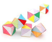 Origami cake boxes Royalty Free Stock Image