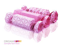 Origami candy group Stock Photography