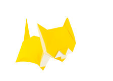 Origami cat Royalty Free Stock Photography