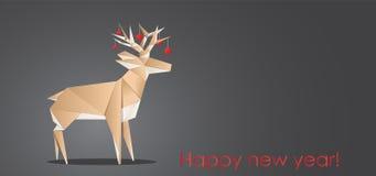 Origami cerfs communs, carte de voeux de Noël, illustration de vecteur, eps10 illustration de vecteur