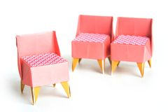 Origami Möbel origami chairs stock image image of origami tradition 3301099
