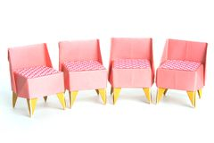 Origami chairs Royalty Free Stock Images