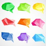 Origami Chat Bubble Royalty Free Stock Images